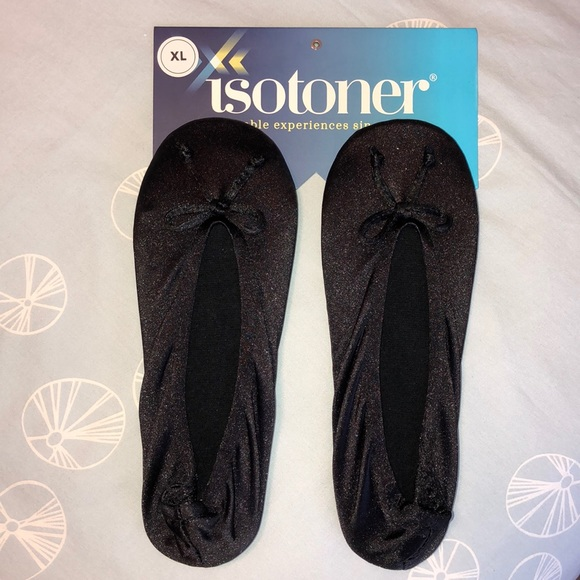 isotoner Shoes - NWT Isotoner Satin Ballet slippers XL (9.5-10.5)